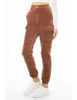 Corduroy Cargo Pants by Forever 21