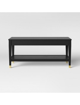 Duxbury Black Coffee Table With Gold Feet   Threshold™ by Shop This Collection