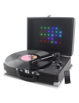 Magnavox Suitcase Turntable System With Bluetooth & Decorative Rgb Lights Md699 by Cd Changers & Turntables
