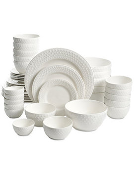 White Elements Fleetwood 42 Pc. Dinnerware Set, Service For 6 by Gibson