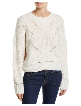 Open Knit Boxy Sweater by Free Generation