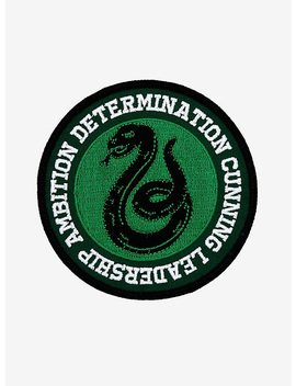 Harry Potter Slytherin House Values Circle Patch by Hot Topic