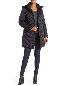 Quilted Hooded Coat by Kenneth Cole New York