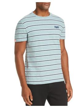 Orange Label Echo Striped Tee by Superdry