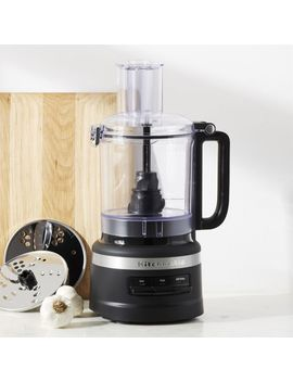 Kitchen Aid ® Matte Black 9 Cup Food Processor by Crate&Barrel