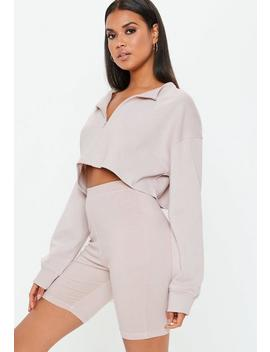 Cream Cycling Shorts by Missguided
