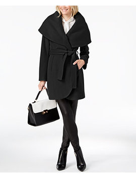 Marla Belted Wrap Coat by T Tahari