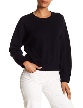 Layered Trim Drop Shoulder Sweater by Vince