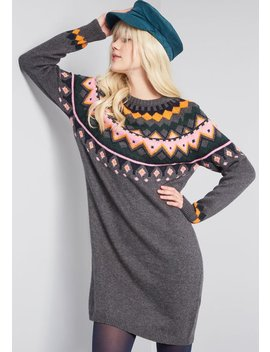 Savor The Moment Sweater Dress by Modcloth