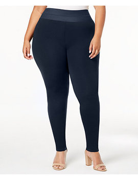 I.N.C. Plus Size Smoothing Leggings, Created For Macy's by Inc International Concepts