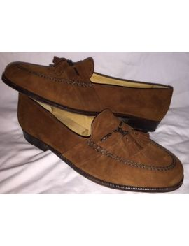 Moreschi Men's Size 10 Brown Suede Tassel Loafers Dress Shoes by Moreschi