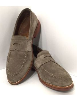 J. Crew Men's Gray Leather Suede Penny Loafer Us 10 by J.Crew