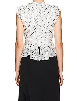 Arielle Dotted Silk Peplum Blouse by Laura Garcia Collection