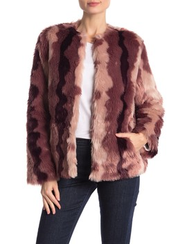 Ombre Short Chubby Faux Fur Jacket by Sam Edelman