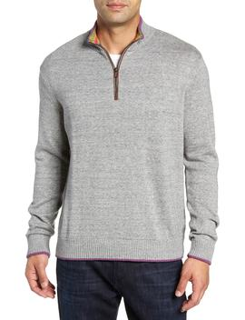 Cavalry Classic Fit Quarter Zip Sweater by Robert Graham
