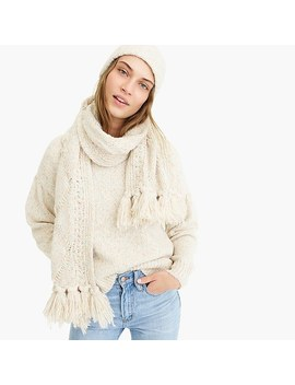 Chunky Donegal Cable Knit Scarf by J.Crew