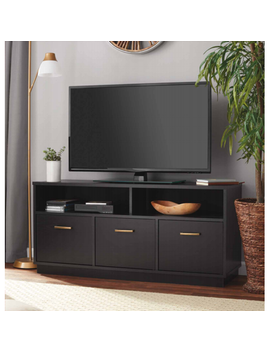"Mainstays 3 Door Tv Stand Console For T Vs Up To 50"", True Black Oak Finish by Mainstays"