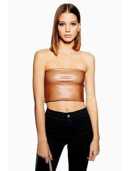 Pu Bandeau Top by Topshop