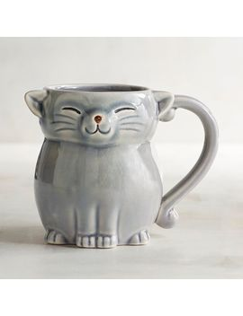Gray Cat Stoneware Mug by Pier1 Imports