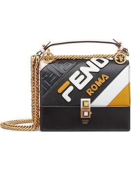 X Fila Small Kan I Mania Logo Shoulder Bag by Fendi