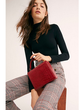 Mini Suitcase Croc Bag by Free People