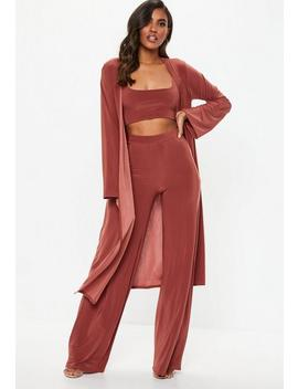 Rust Slinky 3 Piece Co Ord Set by Missguided