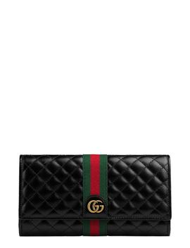 Quilted Leather Continental Wallet by Gucci