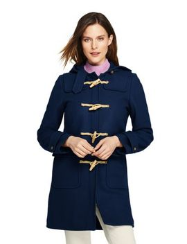 Women's Duffle Long Wool Coat by Lands' End