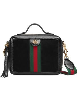 Ophidia Suede & Leather Top Handle Bag by Gucci