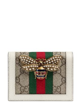 Queen Margaret Gg Supreme Canvas Card Case by Gucci