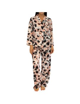 Pajama Heaven Satin Longsleeve Lounger Pajama Set by Pajama Heaven