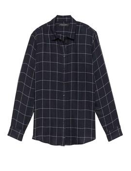 Dillon Classic Fit Windowpane Plaid Flannel Shirt by Banana Repbulic