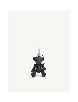 Leather Thomas Bear Keyring by Burberry