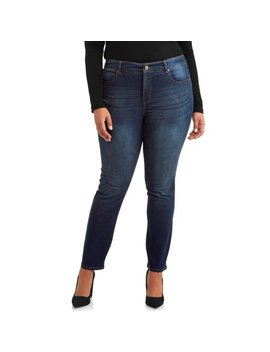 Women's Plus Size Sculpting Straight Leg Jeans by Terra & Sky