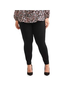Women's Plus Size Knit Denim Pull On Pant by Terra & Sky