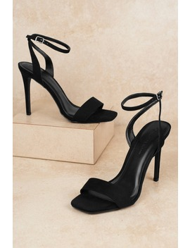 Connie Black Heels by Tobi