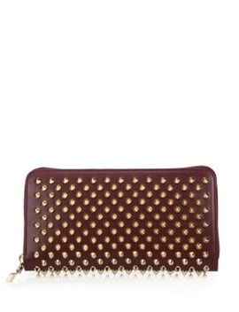Panettone Spiked Zip Around Wallet by Christian Louboutin