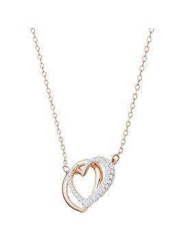 Dear Necklace, Medium, White, Rose Gold Plating by Swarovski