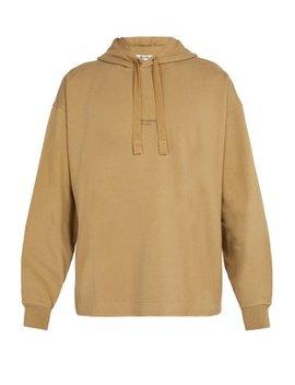 Logo Cotton Jersey Hooded Sweatshirt by Acne Studios