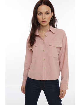 On Time Corduroy Shirt by Chiquelle