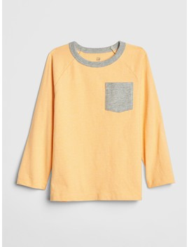 Pocket Long Sleeve T Shirt by Gap