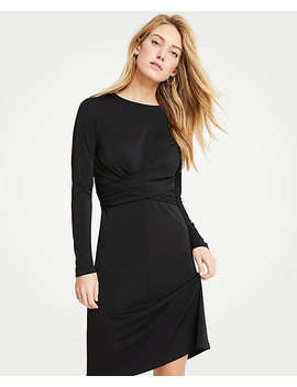 Wrap Matte Jersey Dress by Ann Taylor