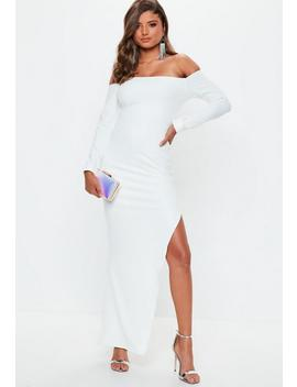 White Bardot Maxi Dress by Missguided
