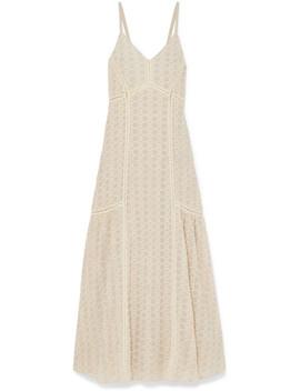Crocheted Cotton Blend Gauze Maxi Dress by Jonathan Simkhai