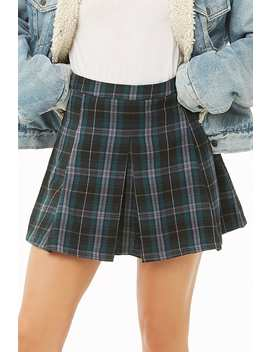 Plaid Print Skirt by Forever 21