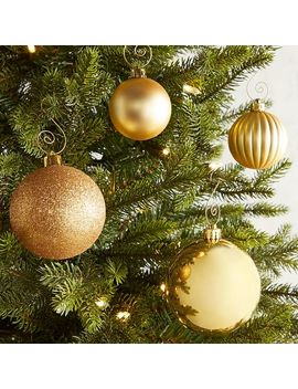 Gold Mixed Shatterproof Ornament Set by Pier1 Imports