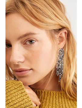 Serefina Rhinestone Dangle Earrings by Free People