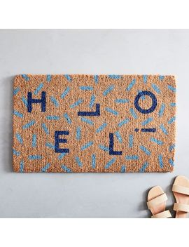 Hello Doormat by West Elm