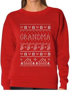 Tee Stars   Grandma Ugly Christmas Sweater Funny Xmas Gift Women Sweatshirt by Tstars