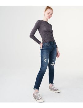 High Waisted Ankle Skinny Jean by Aeropostale